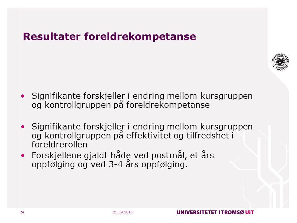 21.09.201625 Drøfting - implikasjoner Å ta i bruk 6 ukers kursene i DUÅ er en effektiv måte å redusere harde og styrke positive oppdragelsesstrategier, samt å styrke foreldres kompetanse i foreldrerollen.