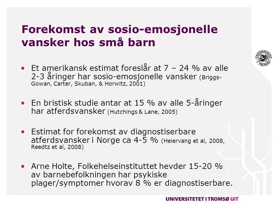Satsing i Norge på forebygging og behandling av atferdsforstyrrelser fra 1997-2011 Ekspertkonferanse i 1997 Enighet om økt forekomst og total mangel på effektive tiltak Satsing på adopsjon av veldokumenterte intervensjoner fra utlandet 4 intervensjoner :  De utrolige årene  PMT-O  MST  Marte Meo Forskning og fagutvikling på disse intervensjonene bl.a.