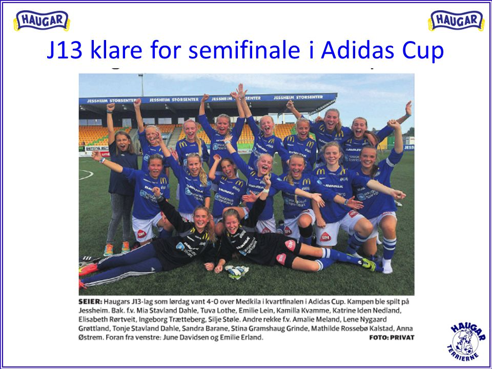 J13 klare for semifinale i Adidas Cup