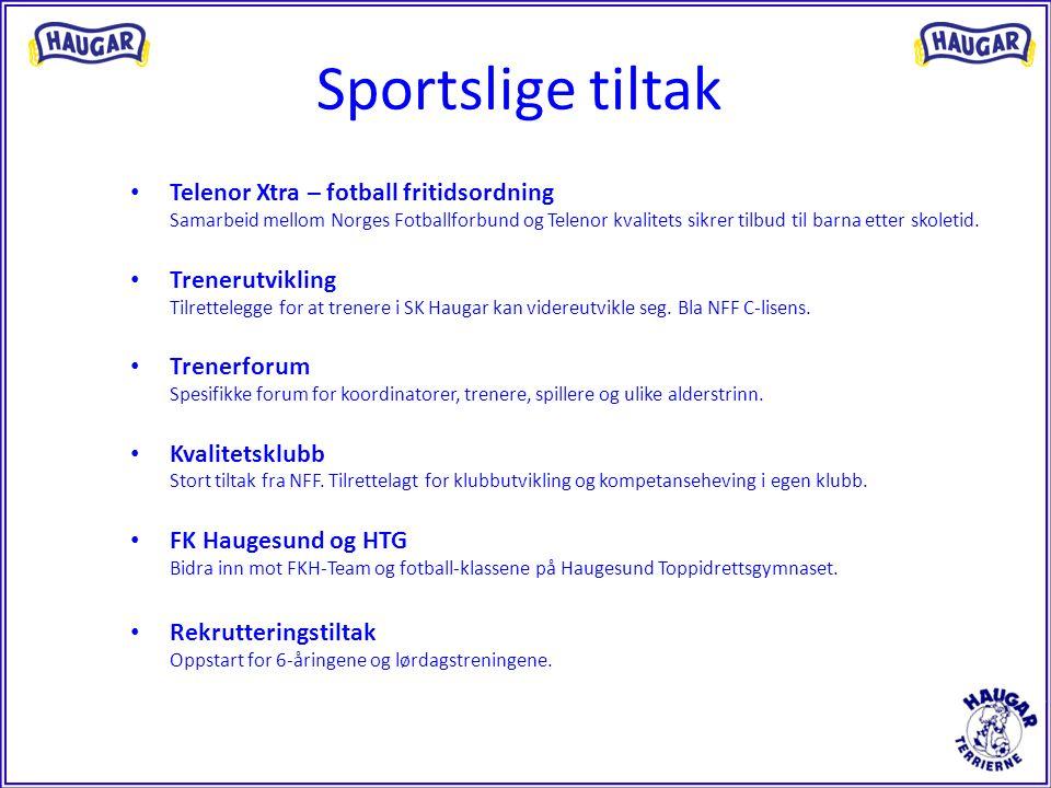 Sportslige tiltak Telenor Xtra – fotball fritidsordning Samarbeid mellom Norges Fotballforbund og Telenor kvalitets sikrer tilbud til barna etter skol