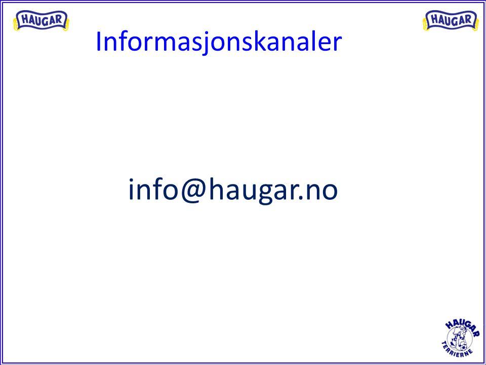 Informasjonskanaler info@haugar.no