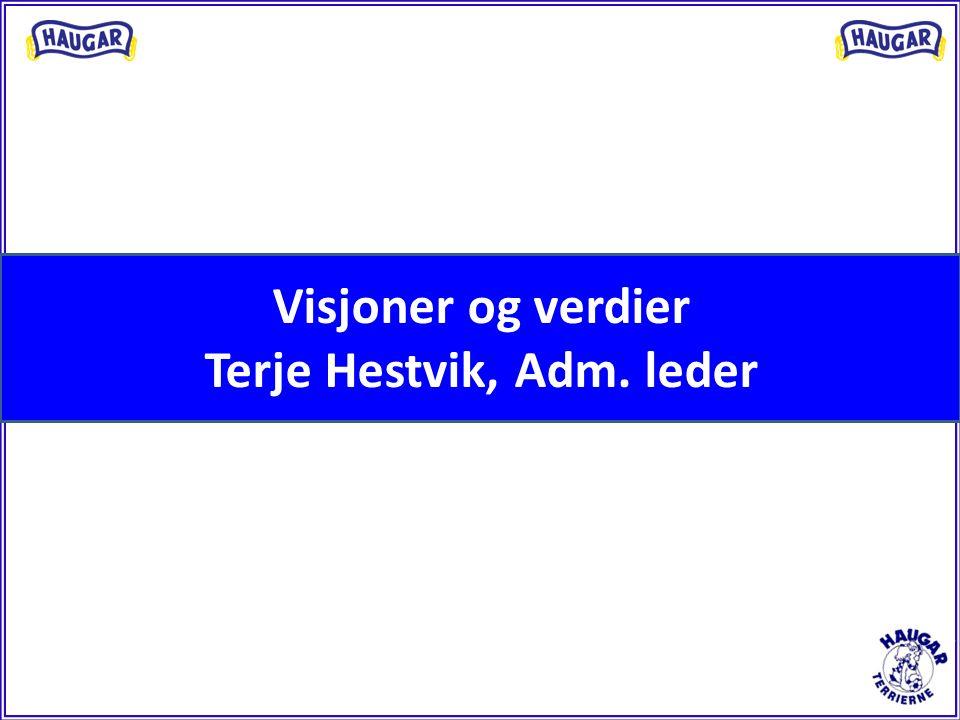 Visjoner og verdier Terje Hestvik, Adm. leder