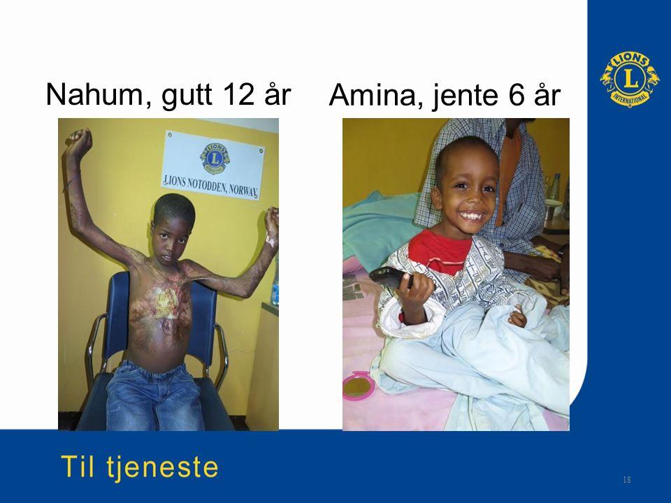Nahum, gutt 12 år 18 Amina, jente 6 år