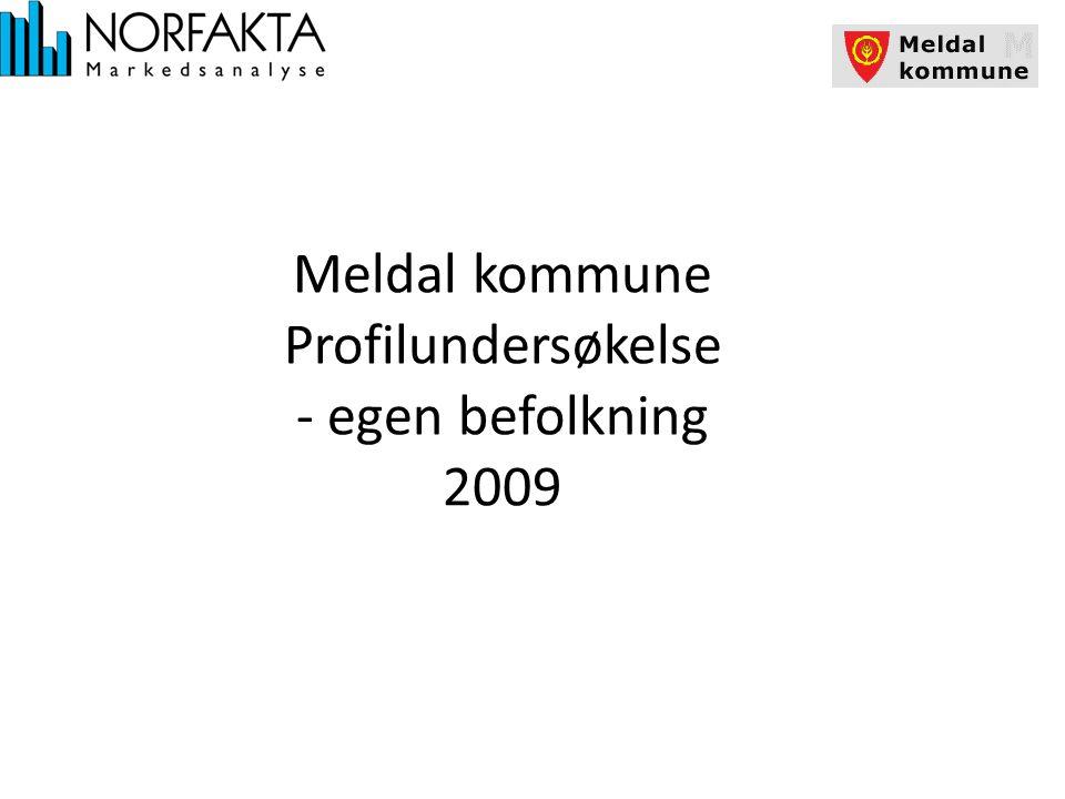 Meldal kommune Profilundersøkelse - egen befolkning 2009
