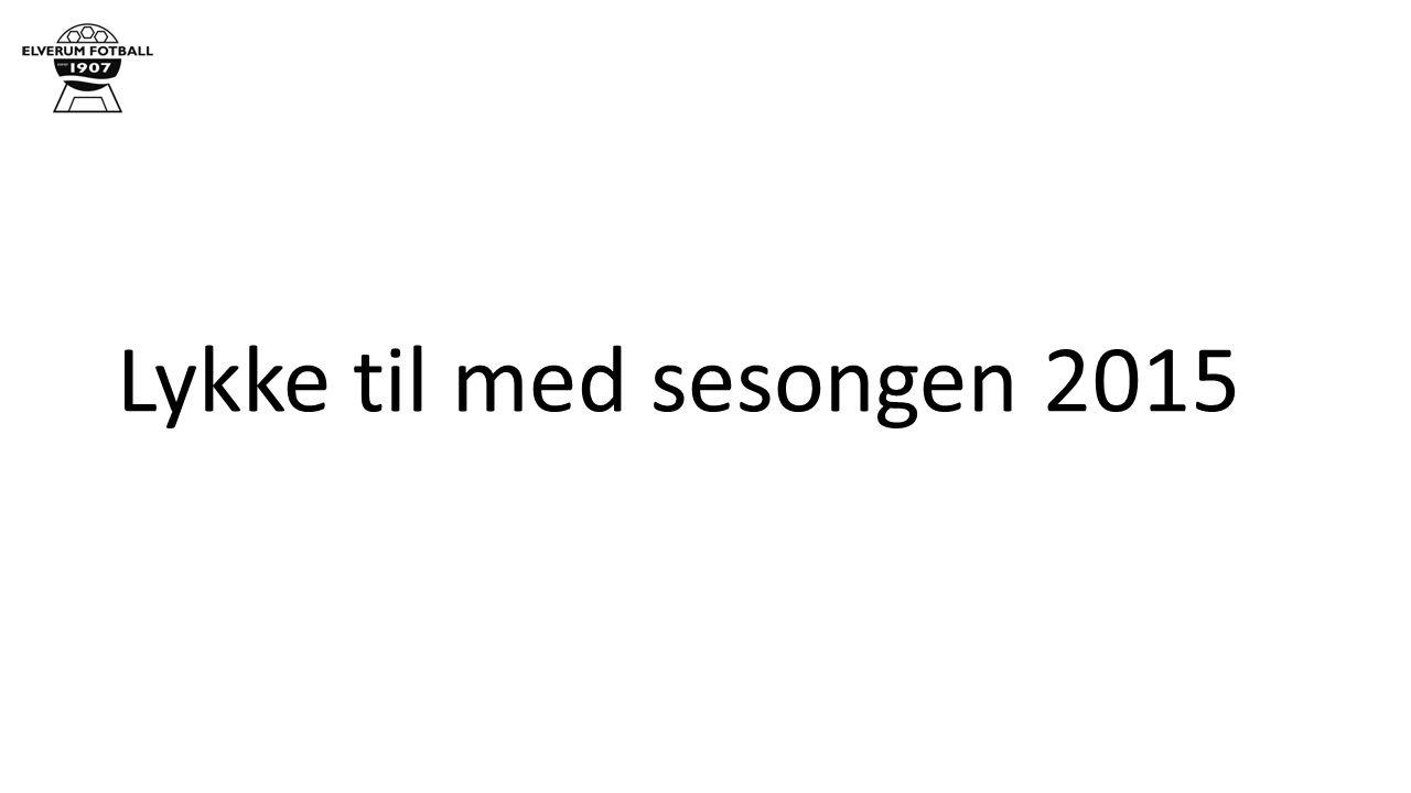 Lykke til med sesongen 2015