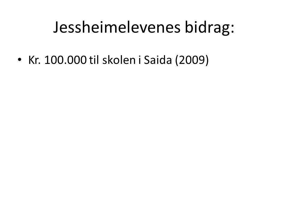 Jessheimelevenes bidrag: Kr. 100.000 til skolen i Saida (2009)