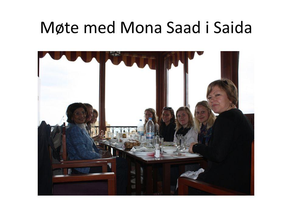 Møte med Mona Saad i Saida