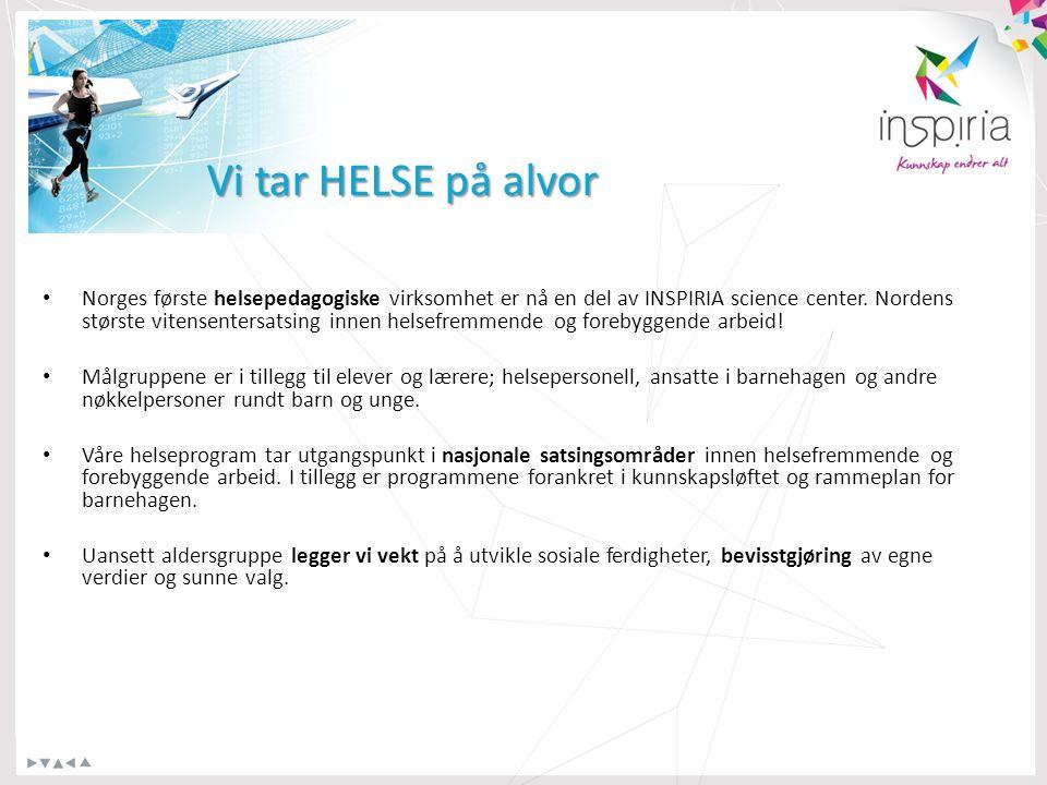 Norges første helsepedagogiske virksomhet er nå en del av INSPIRIA science center.