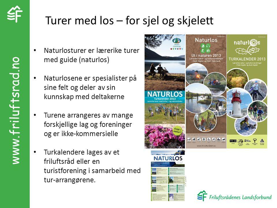 Naturlosturer er lærerike turer med guide (naturlos) Naturlosene er spesialister på sine felt og deler av sin kunnskap med deltakerne Turene arrangere
