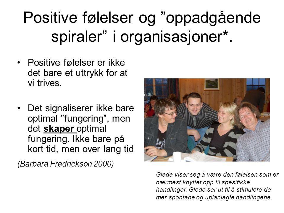 Positive følelser og oppadgående spiraler i organisasjoner*.