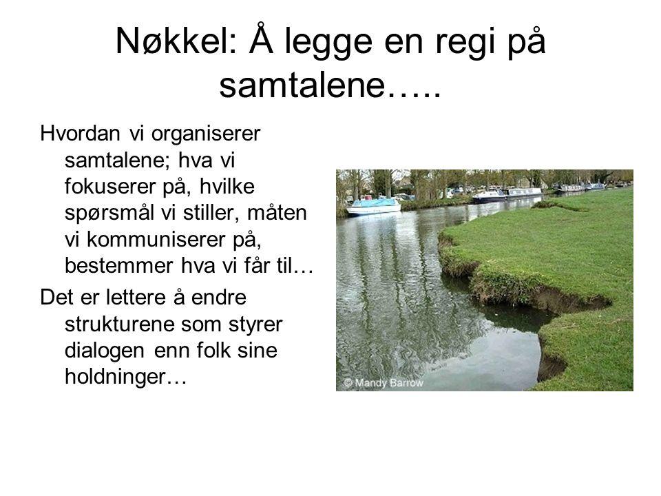 Nøkkel: Å legge en regi på samtalene…..