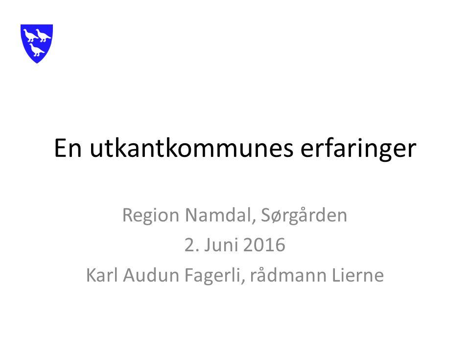 En utkantkommunes erfaringer Region Namdal, Sørgården 2.