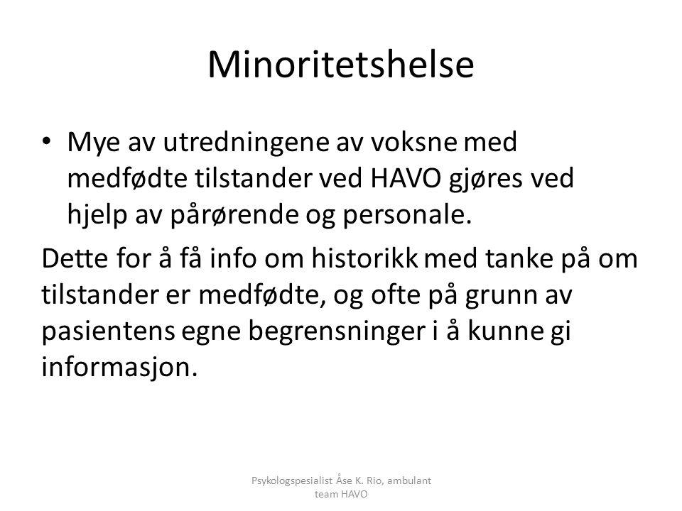 Minoritetshelse Mye av utredningene av voksne med medfødte tilstander ved HAVO gjøres ved hjelp av pårørende og personale.