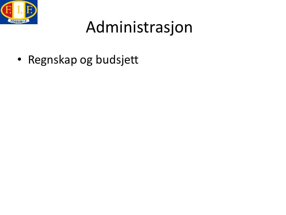 Administrasjon Regnskap og budsjett