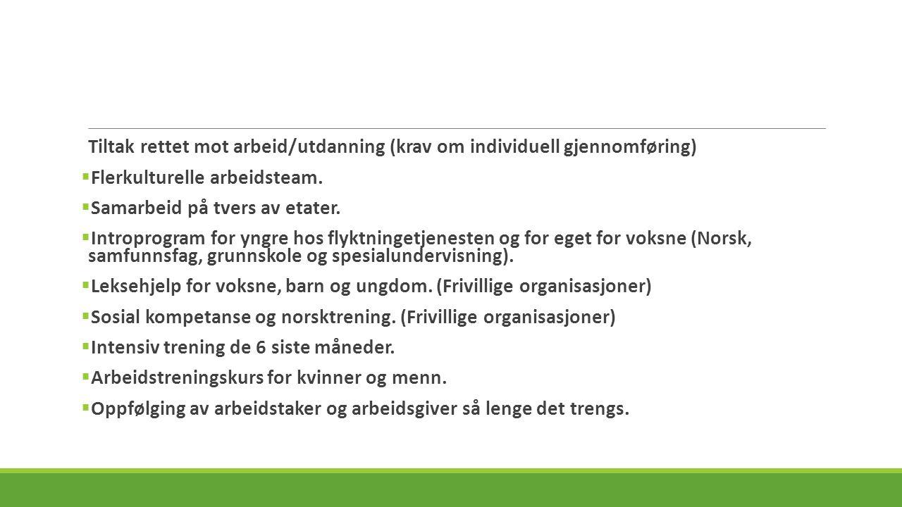 Tiltak rettet mot bolig (krav om individuell gjennomføring).