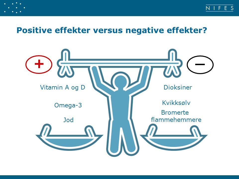 Positive effekter versus negative effekter.