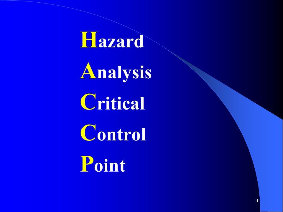 1 H azard A nalysis C ritical C ontrol P oint