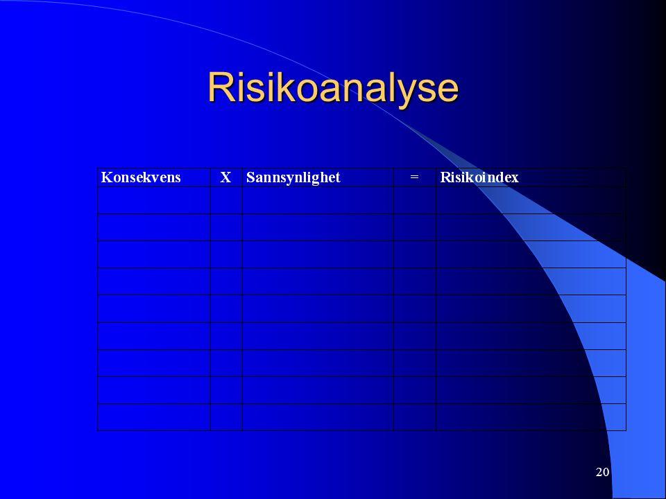 20 Risikoanalyse