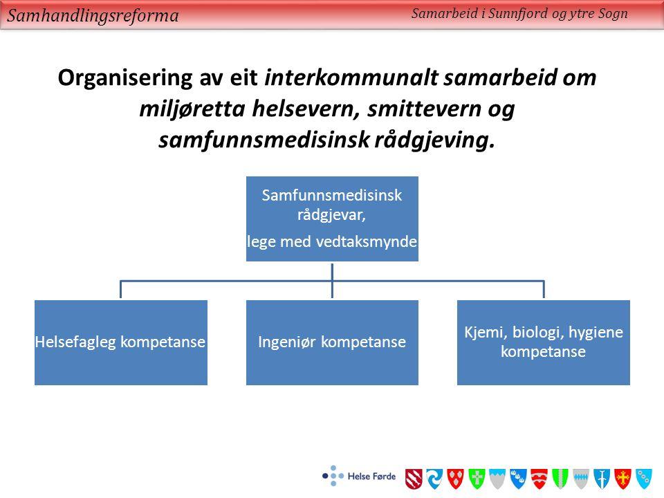 Organisering av eit interkommunalt samarbeid om miljøretta helsevern, smittevern og samfunnsmedisinsk rådgjeving.