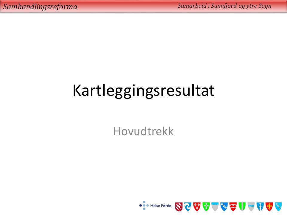 Kartleggingsresultat Hovudtrekk Samhandlingsreforma Samarbeid i Sunnfjord og ytre Sogn