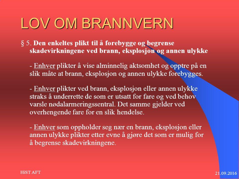 21.09.2016 HiST AFT LOV OM BRANNVERN § 5.