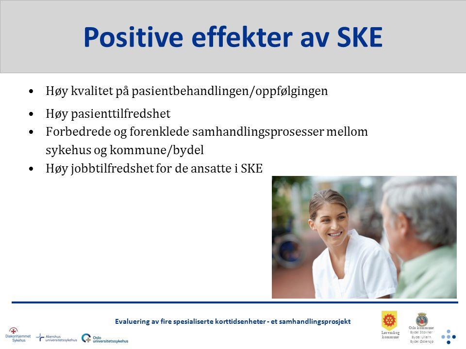 Oslo kommune Bydel Stovner Bydel Ullern Bydel Østensjø Lørenskog kommune Evaluering av fire spesialiserte korttidsenheter - et samhandlingsprosjekt Takk for oppmerksomheten.