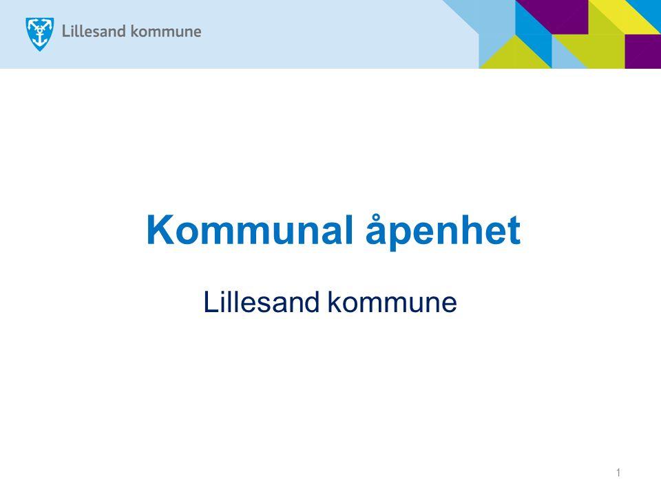1 Kommunal åpenhet Lillesand kommune
