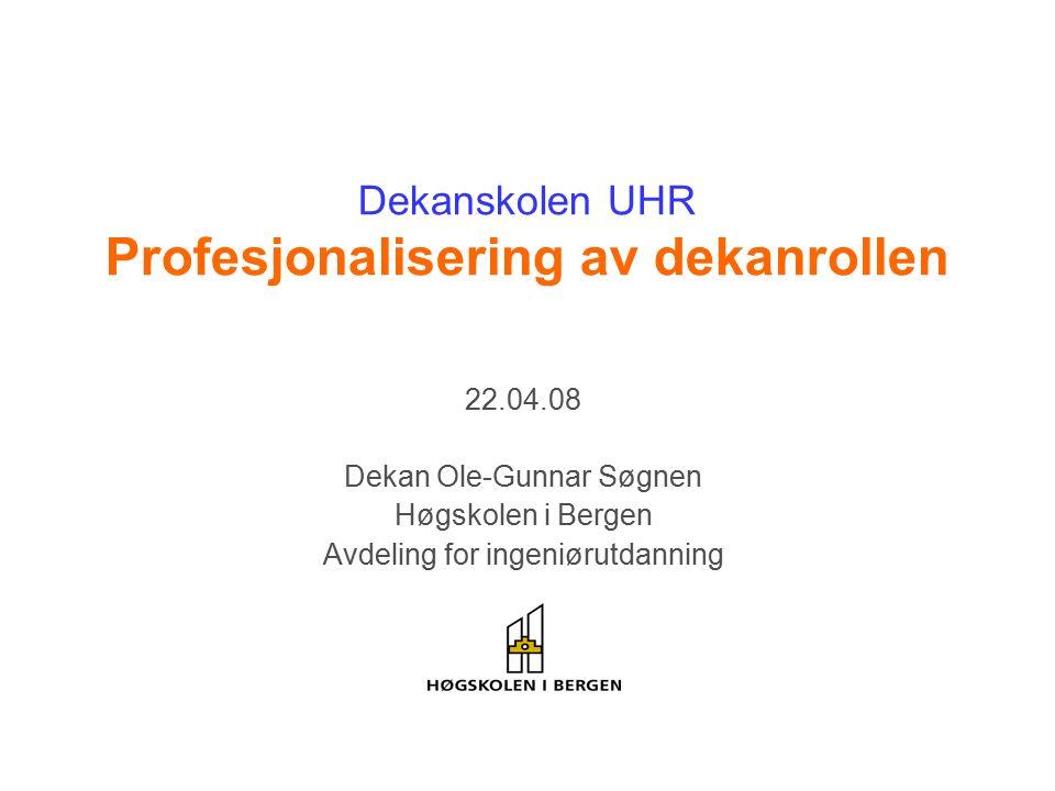 Høgskolen i Bergen Ingeniør- utdanning Helse- og sosialfaglig utdanning Lærer- utdanning 2000 studenter 135 ansatte 6000 studenter 650 ansatte Ingeniør (ca 1300) Bioingeniør Teknologi Økonomi/administrasjon (ca 400)