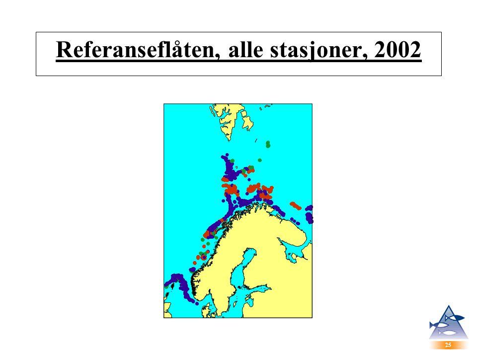 25 Referanseflåten, alle stasjoner, 2002