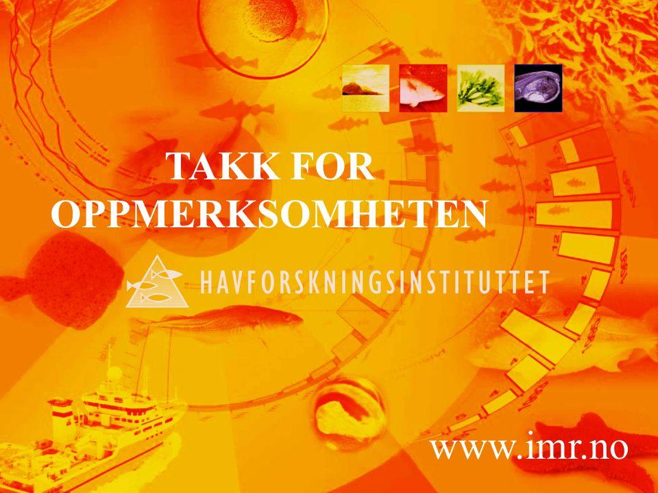 42 TAKK FOR OPPMERKSOMHETEN www.imr.no