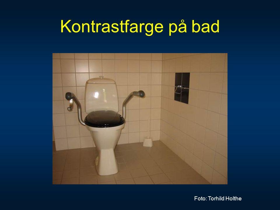 Kontrastfarge på bad Foto: Torhild Holthe