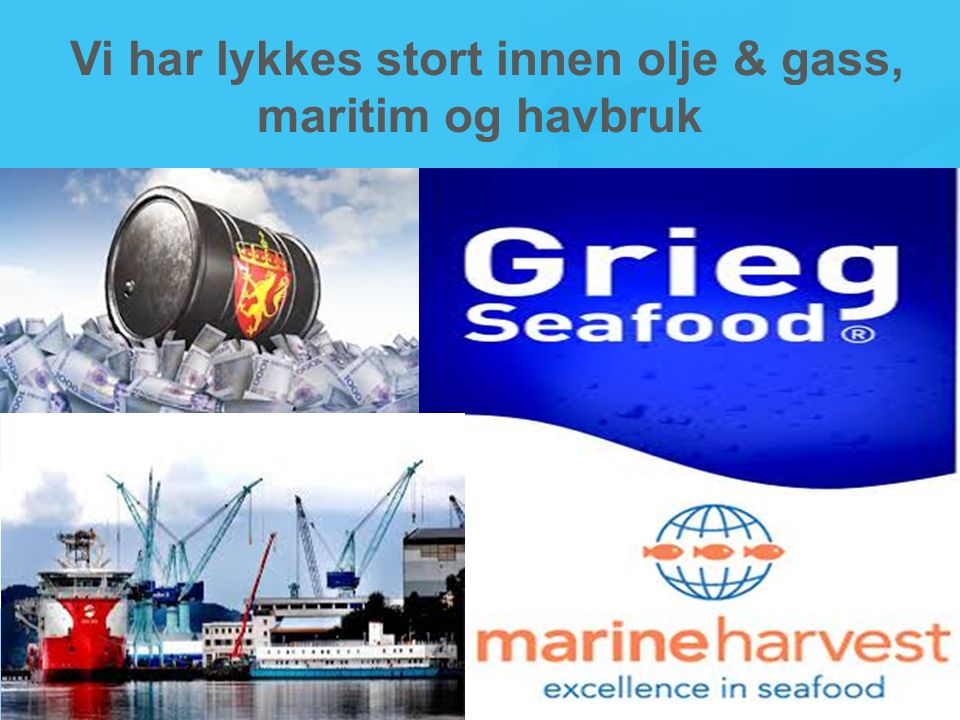 Vi har lykkes stort innen olje & gass, maritim og havbruk