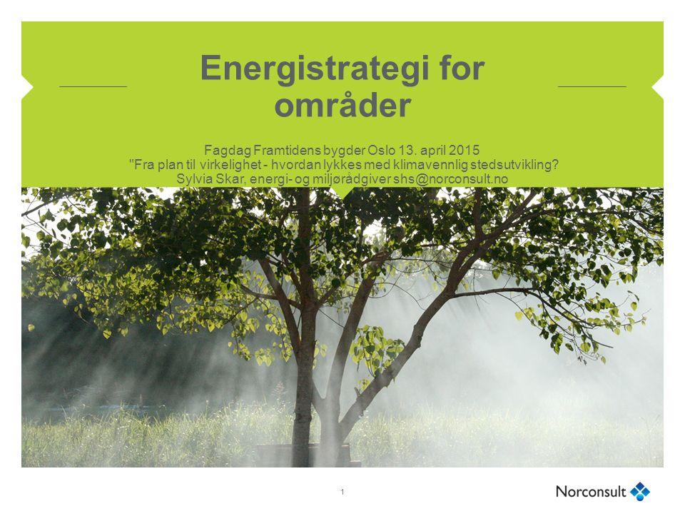 Energistrategi for områder Fagdag Framtidens bygder Oslo 13.