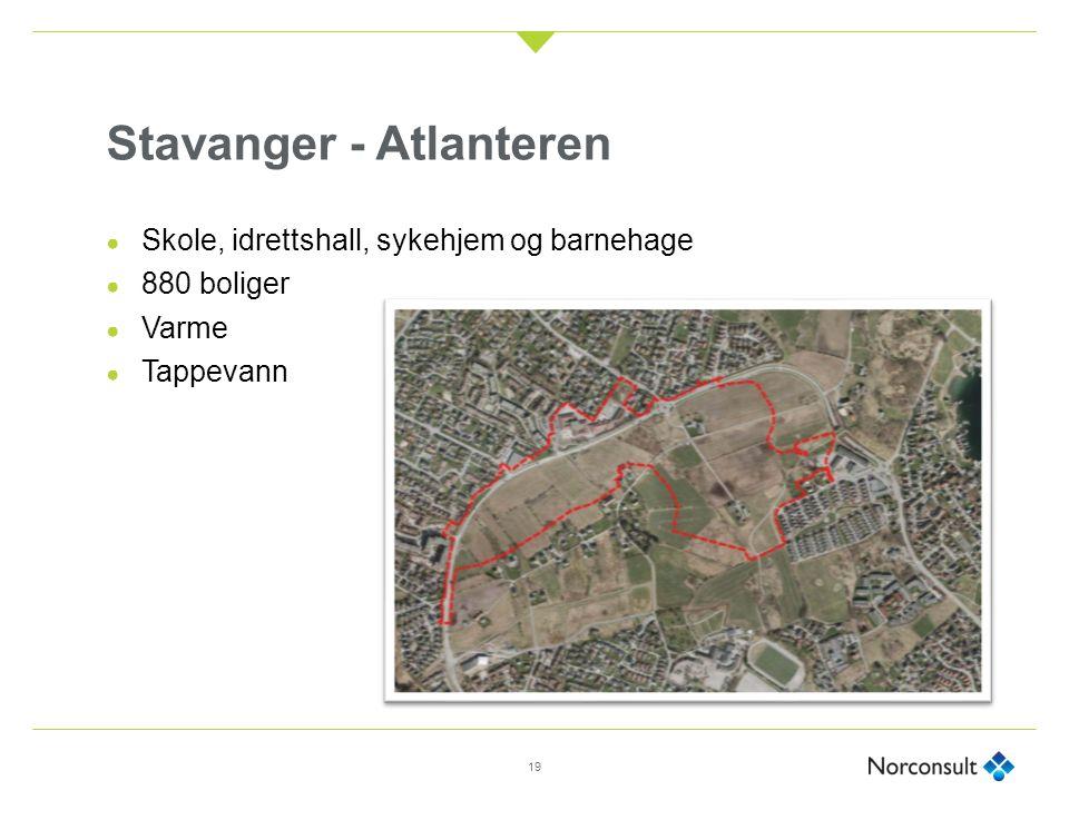 Stavanger - Atlanteren ● Skole, idrettshall, sykehjem og barnehage ● 880 boliger ● Varme ● Tappevann 19