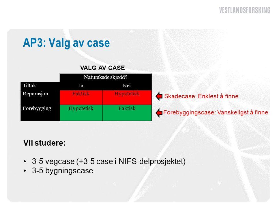 AP3: Valg av case Naturskade skjedd.