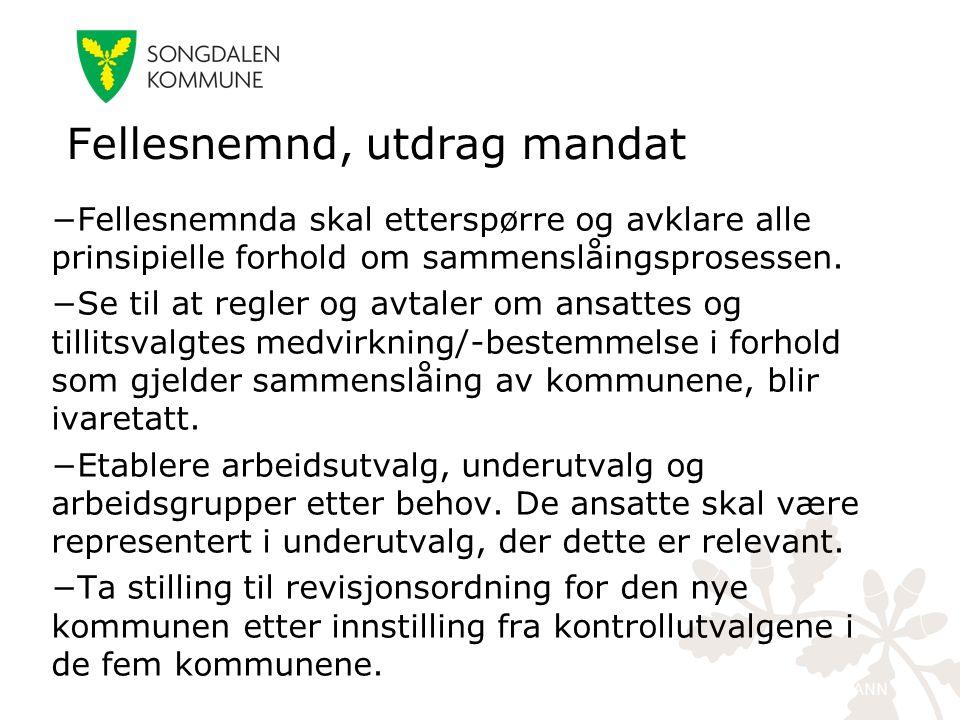 kristiansand.kommune.no −Fellesnemnda skal etterspørre og avklare alle prinsipielle forhold om sammenslåingsprosessen. −Se til at regler og avtaler om
