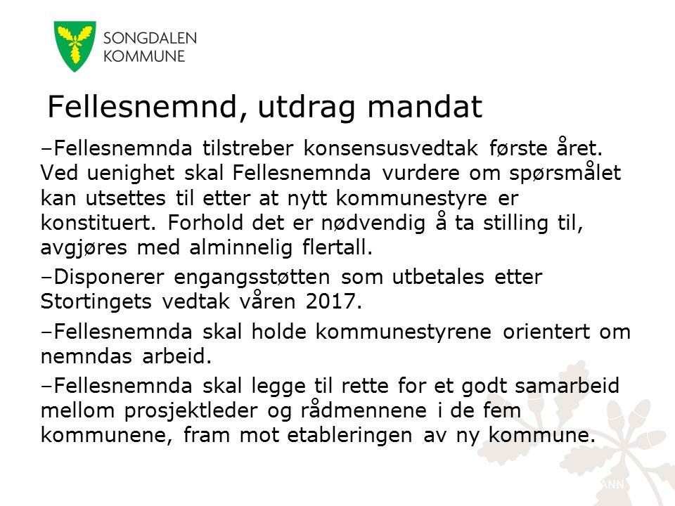 kristiansand.kommune.no –Fellesnemnda tilstreber konsensusvedtak første året. Ved uenighet skal Fellesnemnda vurdere om spørsmålet kan utsettes til et