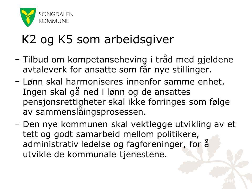kristiansand.kommune.no − Tilbud om kompetanseheving i tråd med gjeldene avtaleverk for ansatte som får nye stillinger. − Lønn skal harmoniseres innen