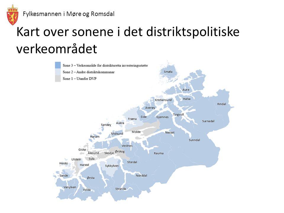Fylkesmannen i Møre og Romsdal Kart over sonene i det distriktspolitiske verkeområdet