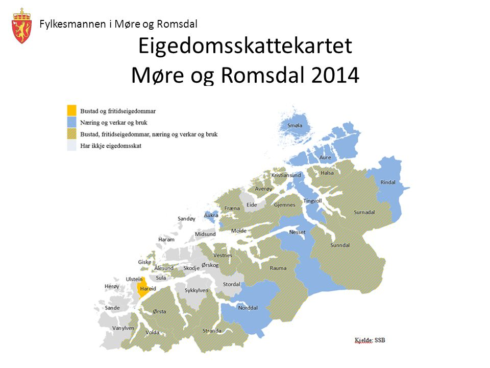 Fylkesmannen i Møre og Romsdal Eigedomsskattekartet Møre og Romsdal 2014