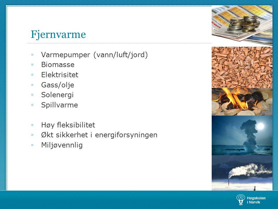 Fjernvarme forts…  Et fjernvarmeanlegg produserer, overfører og fordeler varmtvann eller annen varmebærer til eksterne forbrukere.