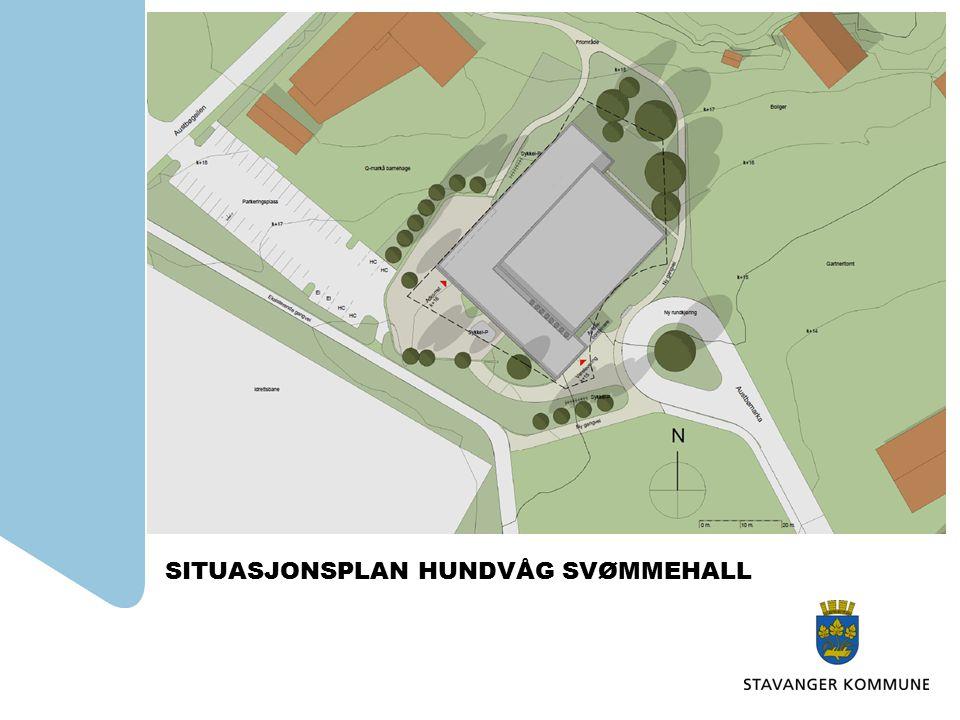 SITUASJONSPLAN HUNDVÅG SVØMMEHALL