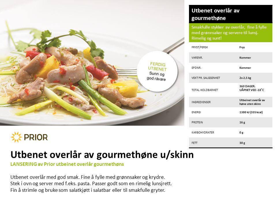 Utbenet overlår av gourmethøne Smakfulle stykker av overlår, fine å fylle med grønnsaker og servere til lunsj.