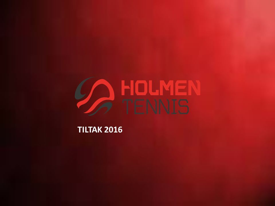 1.VISJON OG MÅL 2.HOLMEN TENNIS VERDIER 3.OPPSUMMERING FRA «HOLMEN TENNIS PROSJEKT 2020» 4.ORGANISASJON OG STYRINGSHJULET 5.STRATEGIPLAN OG MÅLSETNINGER 6.TILTAK 2016 Idrett og miljø Anlegg Medlemmer Utleie tennishall Markedsføring og samarbeidspartnere 7.