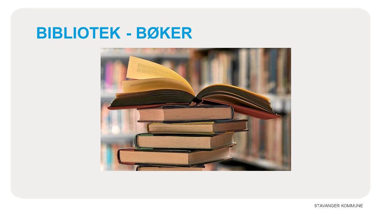 STAVANGER KOMMUNE BIBLIOTEK - BØKER