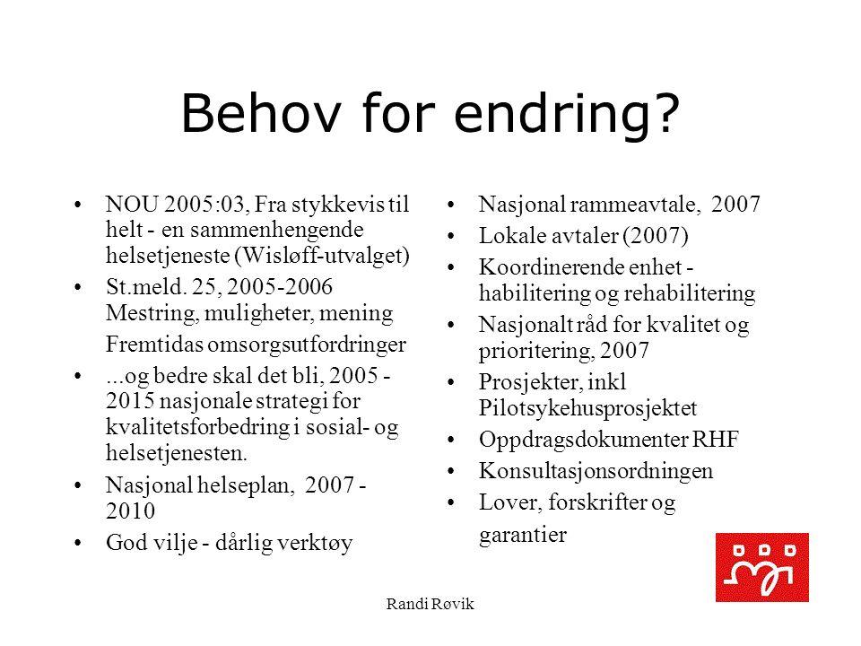 Randi Røvik Behov for endring.