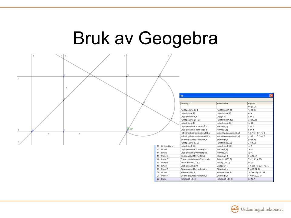 Bruk av Geogebra