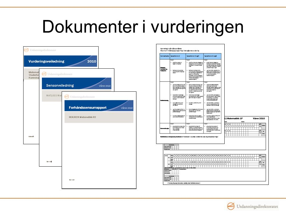 Dokumenter i vurderingen