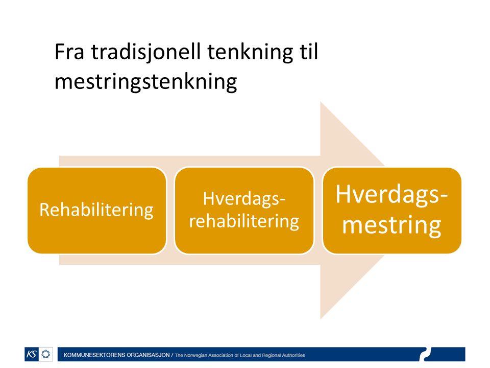 Rehabilitering Hverdags- rehabilitering Hverdags- mestring Fra tradisjonell tenkning til mestringstenkning