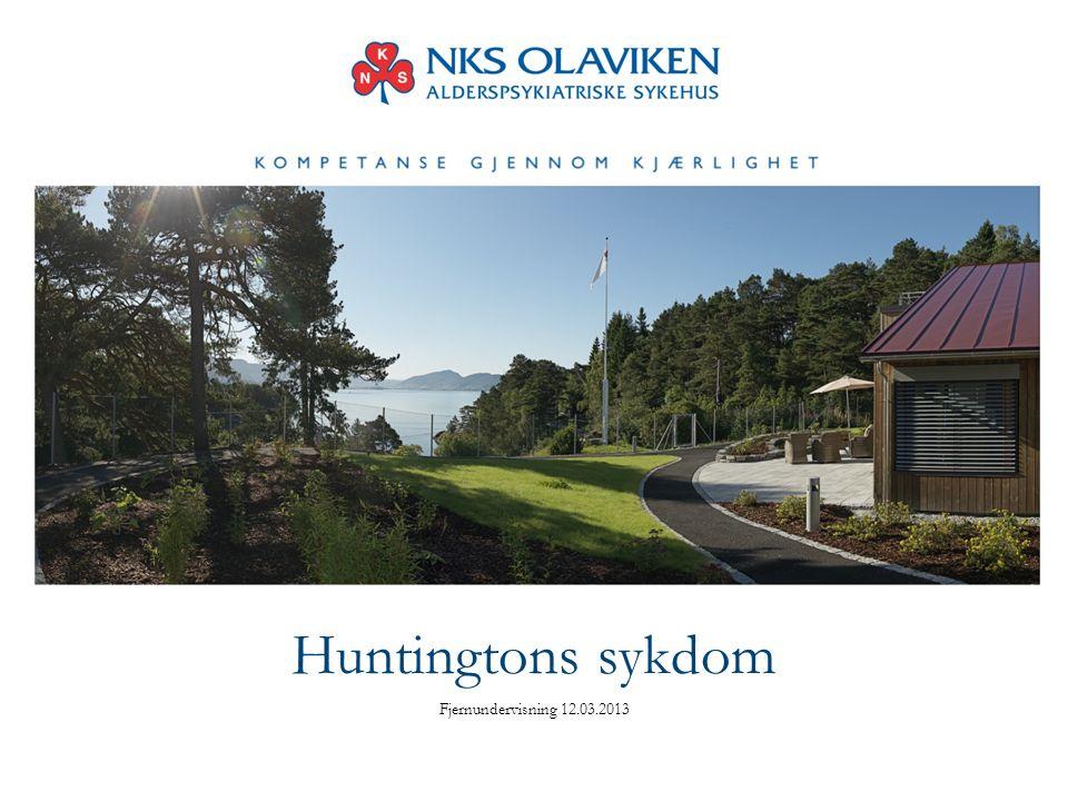 Huntingtons sykdom Fjernundervisning 12.03.2013